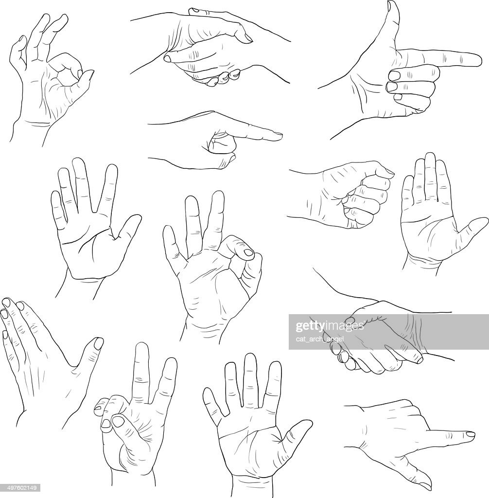 sketch drawing hands