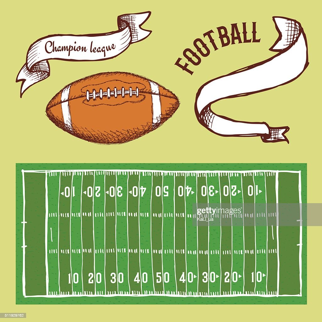 Sketch football set