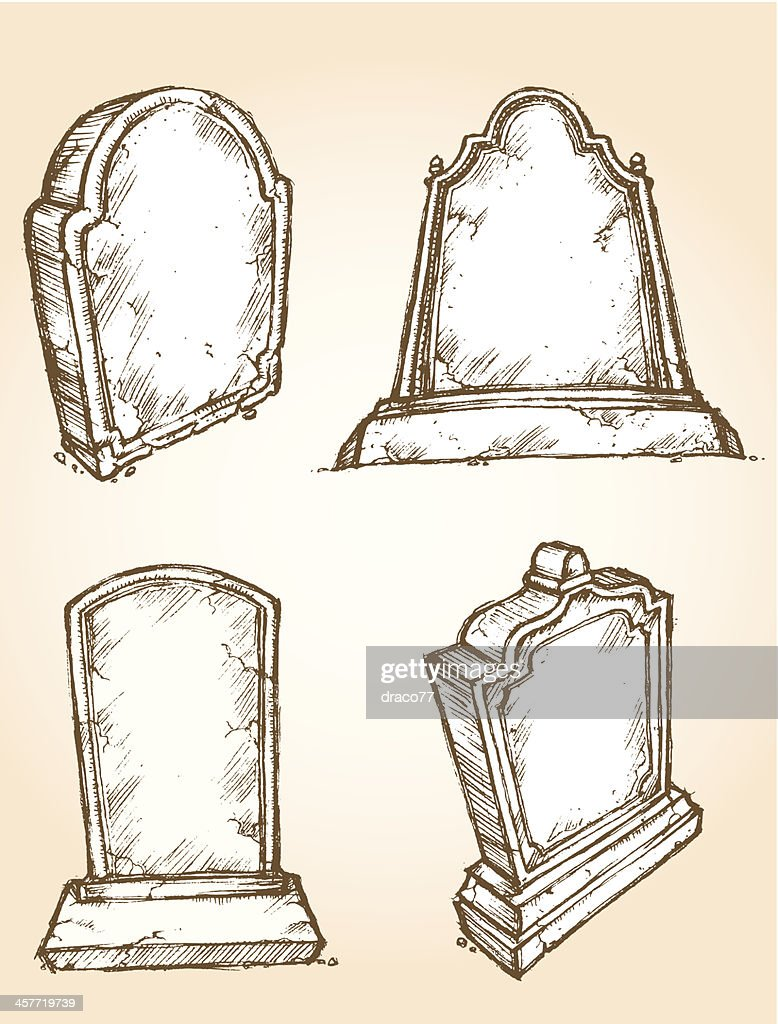 Sketch Grave Stone Set