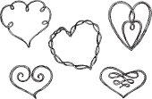 Sketch Heart Knots