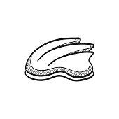 Sketch icon - Bicycle helmet