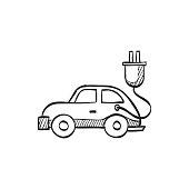 Sketch icon - Electric car