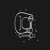 Sketch icon in black - Clamp tool