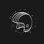 Sketch icon in black - Motorcycle helmet