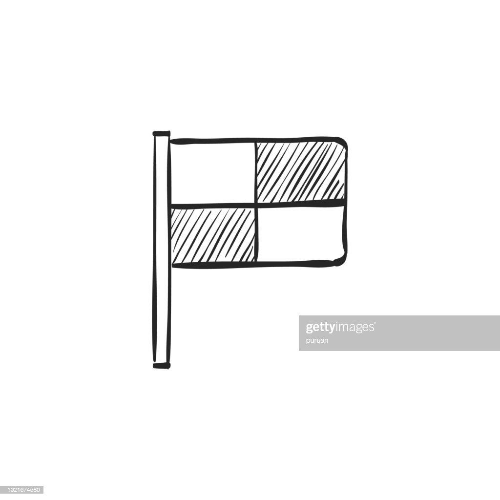 Sketch icon - Lineman flag