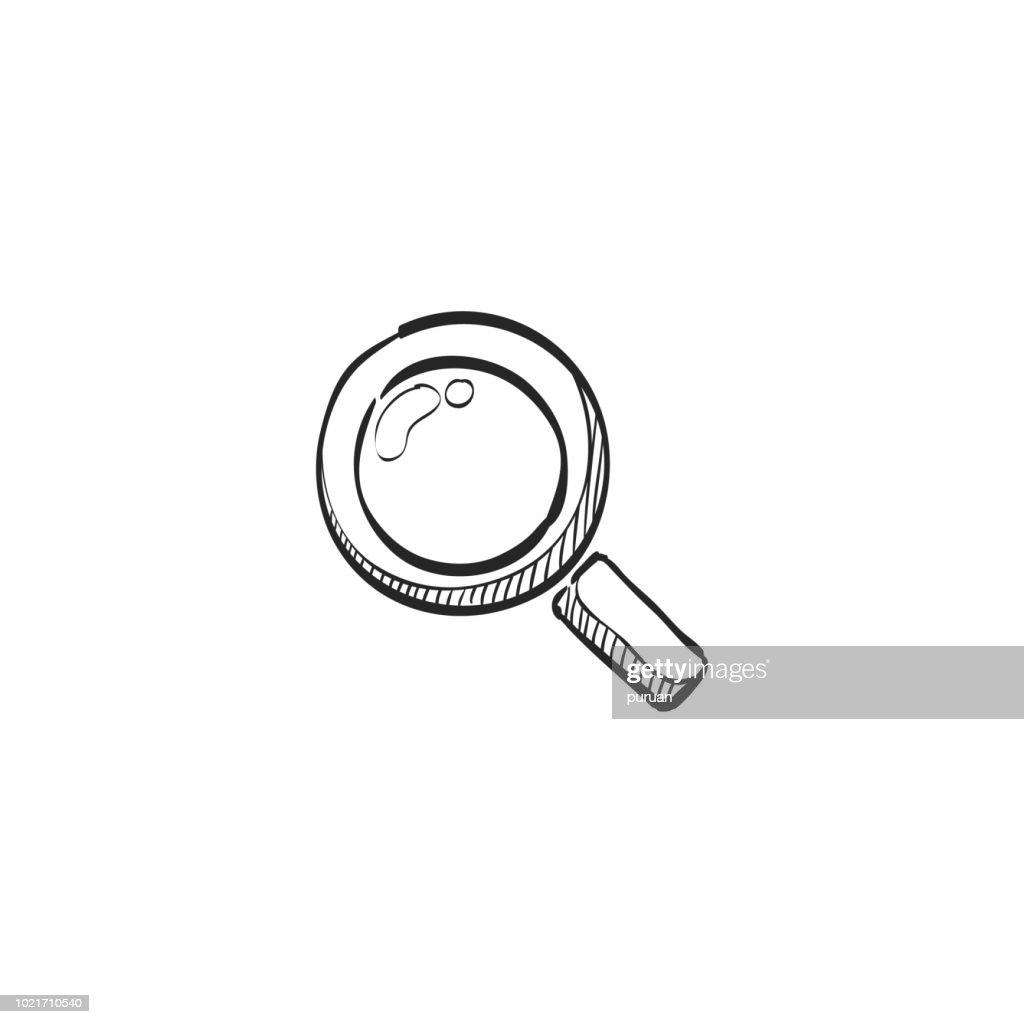 Sketch icon - Magnifier