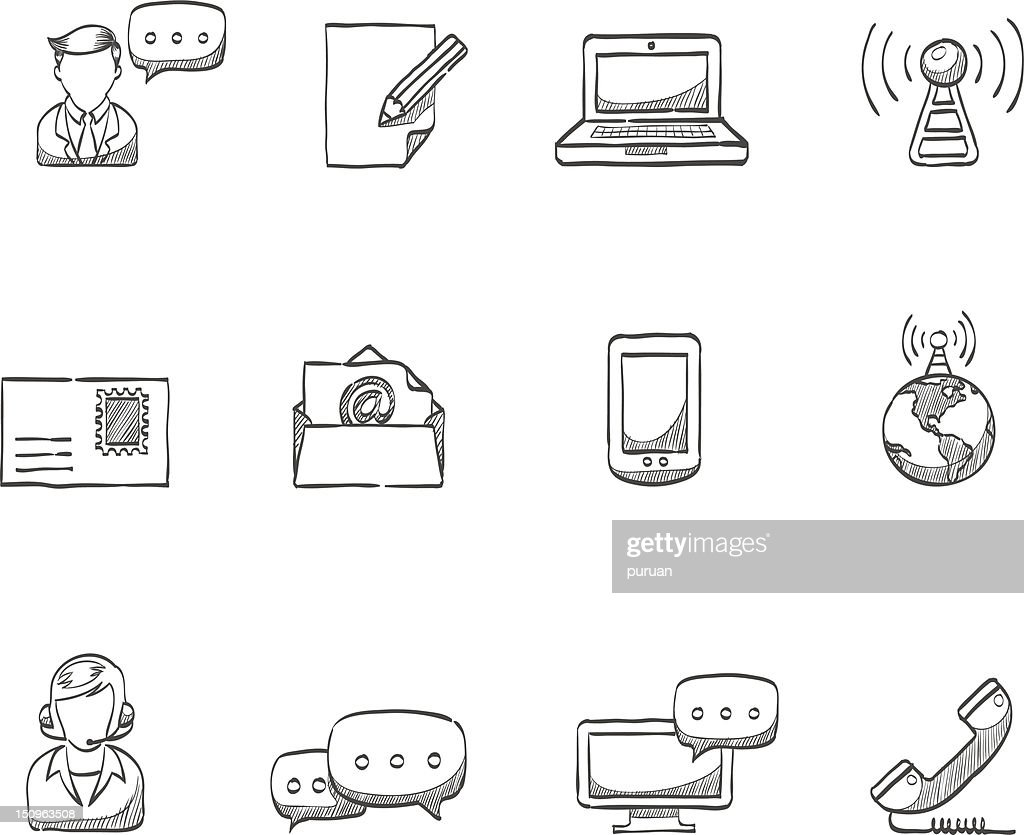 Sketch Icons - Communication