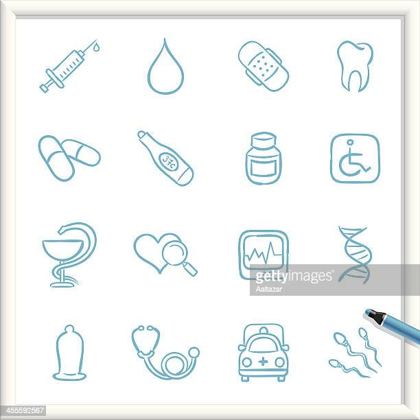 sketch icons - medical - condom stock illustrations