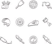 Sketch Icons - Motorcycle
