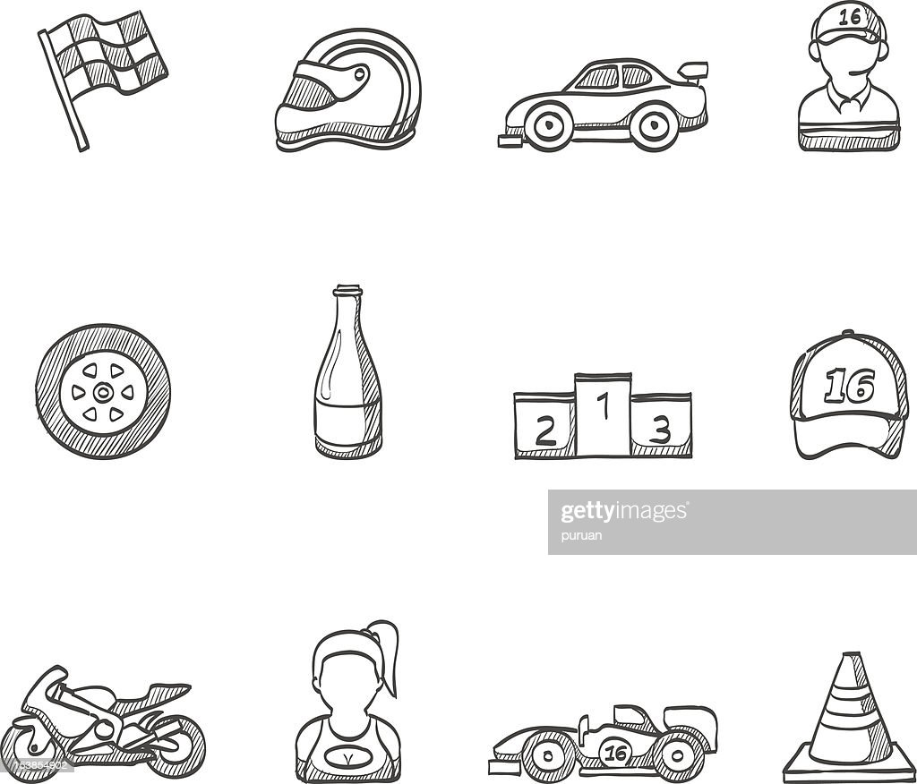 Sketch Icons -  Racing