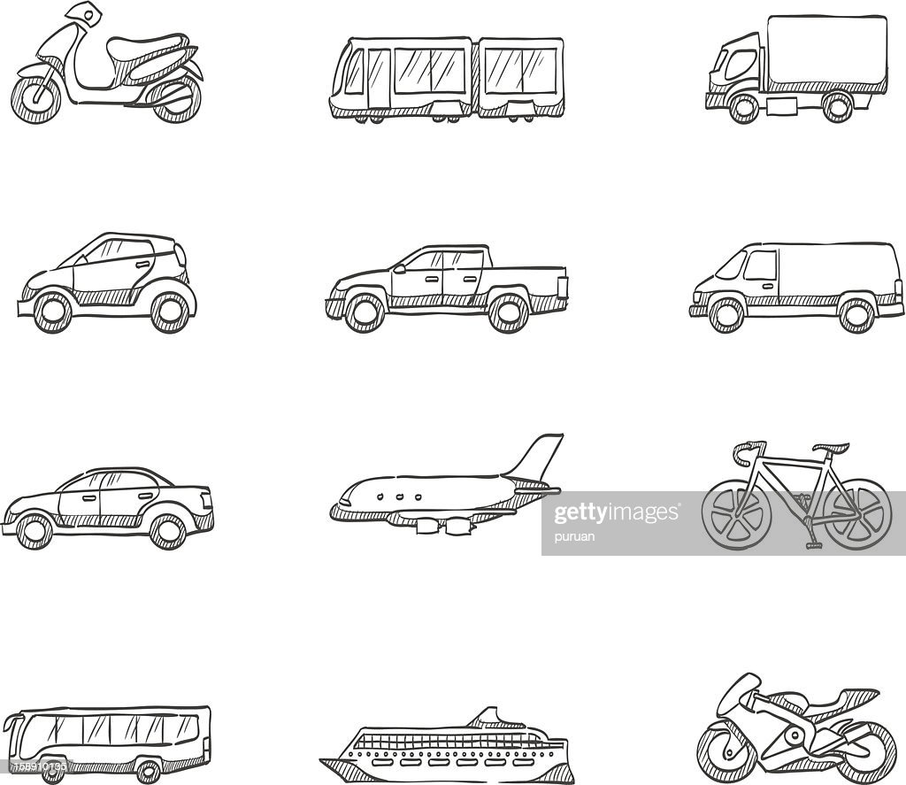 Sketch Icons - Transportation