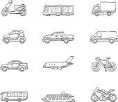 Sketch Icons - Transportation