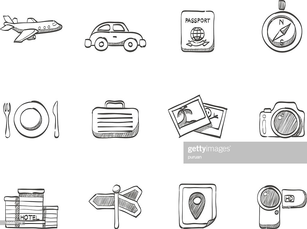 Sketch Icons - Travel