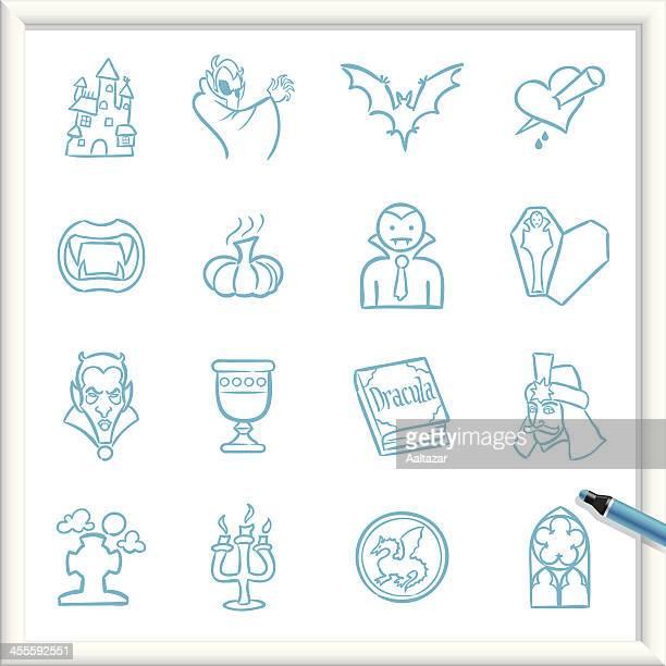 sketch icons - vampire - vampire stock illustrations, clip art, cartoons, & icons