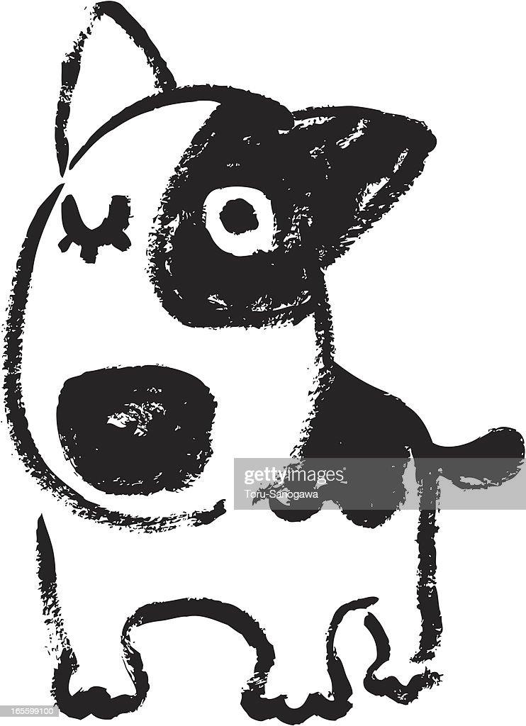 Sketch of bullterrier
