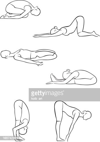 sketch of simple yoga pose illustration vector art  getty