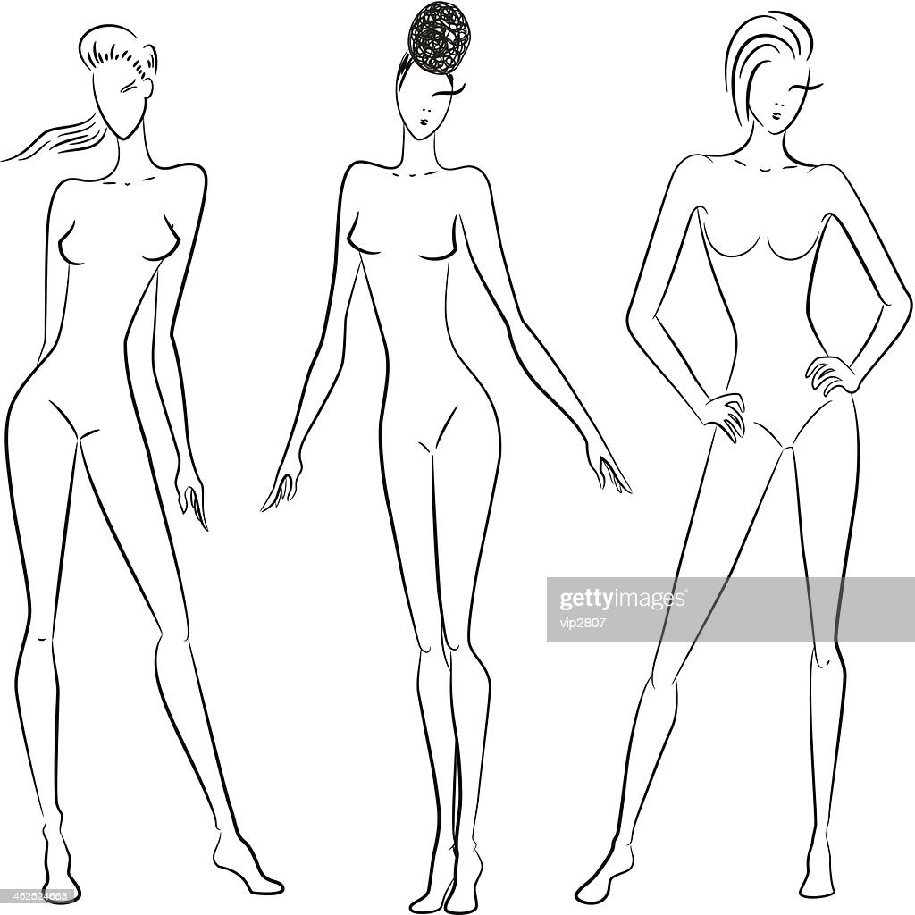 Sketch of women in different poses