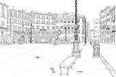 sketch square in Rome