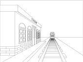sketch train station