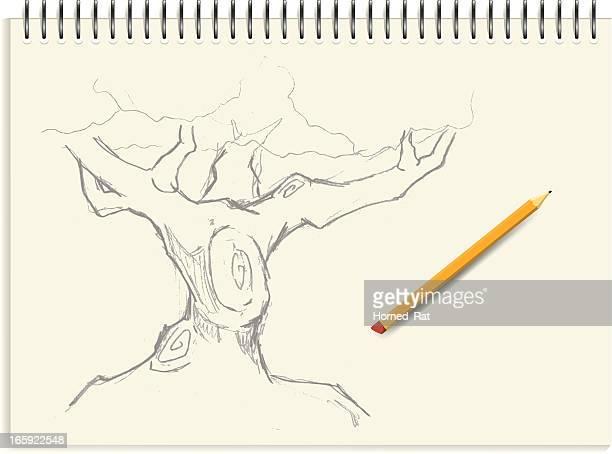 Croquis d'arbre