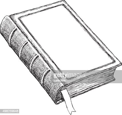 Sketch vintage book vector art getty images