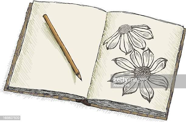 Sketchbook fleurs Doodle