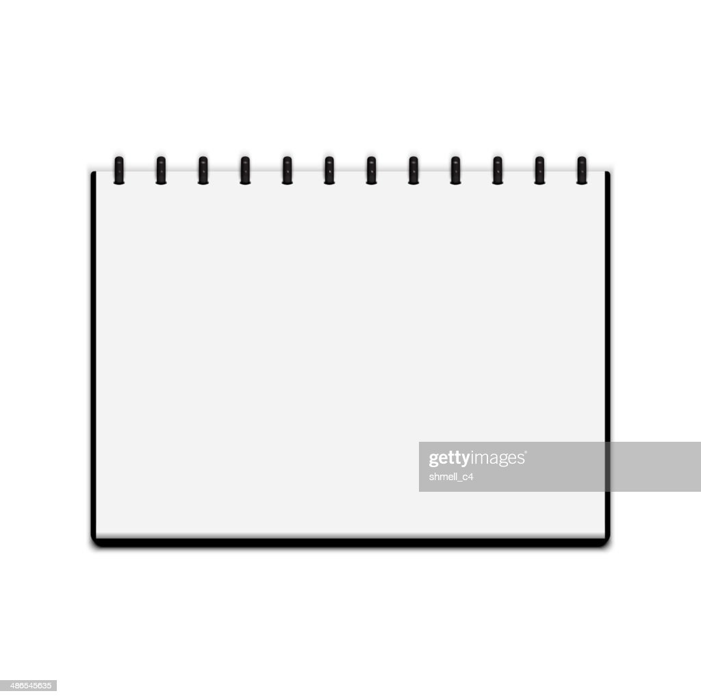 Sketchbook isolated on white background