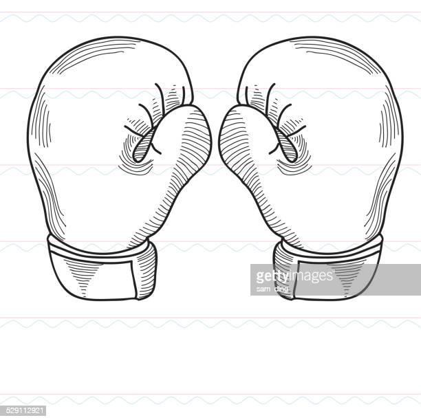 illustrations, cliparts, dessins animés et icônes de croquis, de boxe, de gants de boxe, de sports - gant de boxe