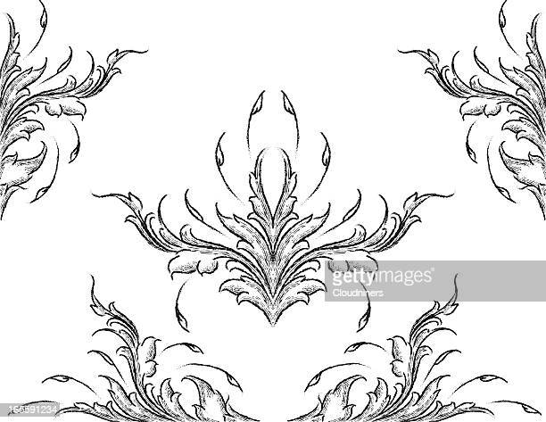 Sketched Leafy Acanthus