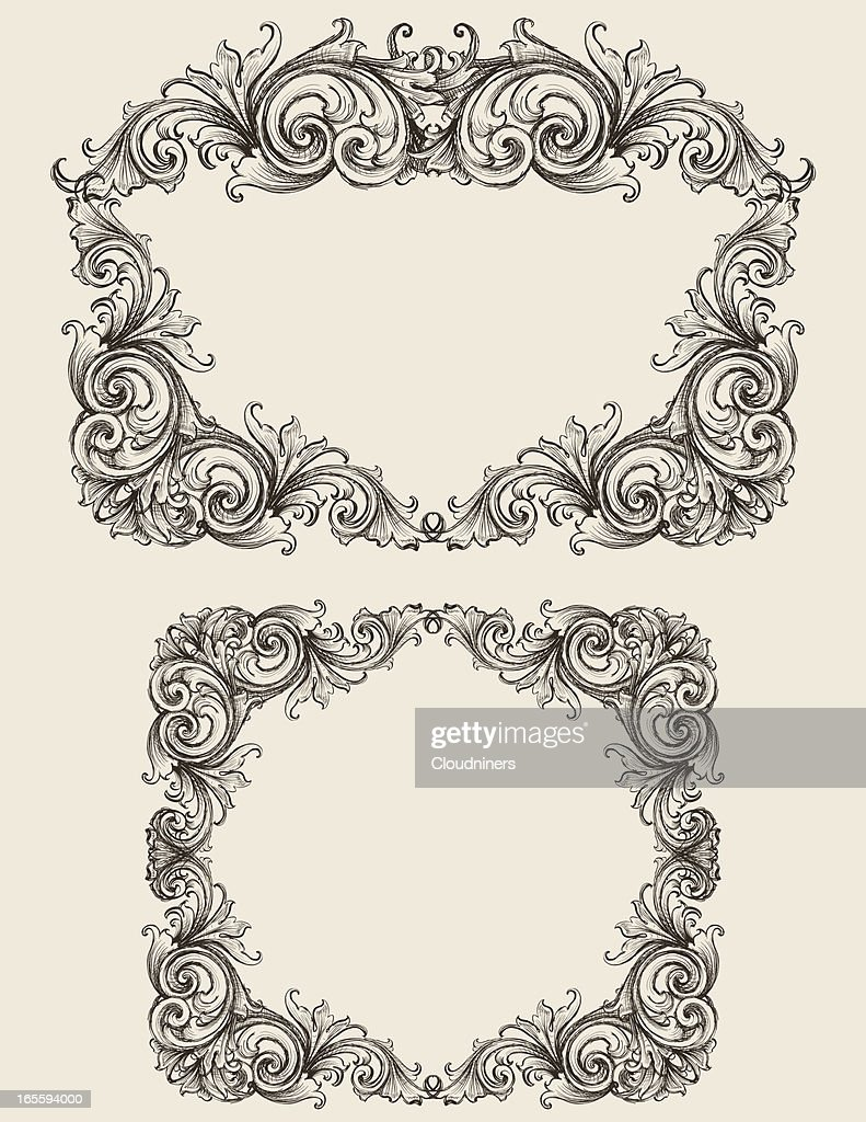 Sketched Scroll Frames Vector Art | Getty Images