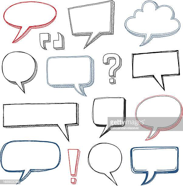 Sketched Speech Bubbles