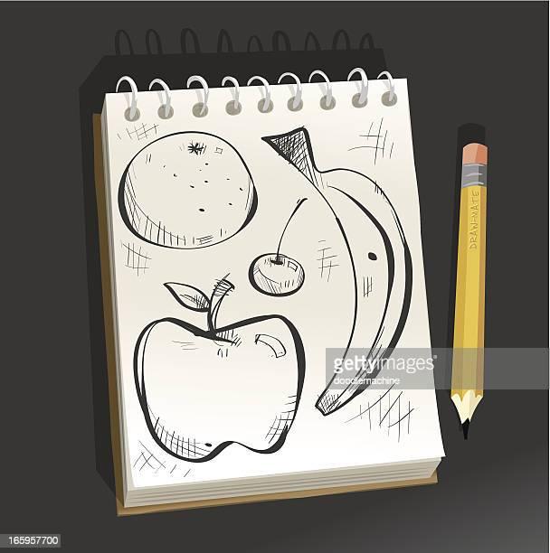Bloc-notes, fruits
