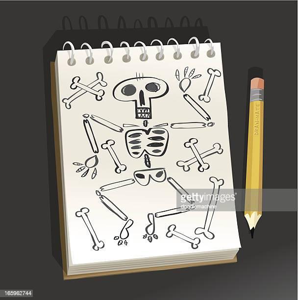 Bloc-notes, Pose-Possibilité de skeleton
