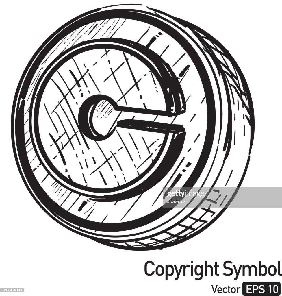 Sketchy copyright symbol vector art getty images sketchy copyright symbol vector art biocorpaavc