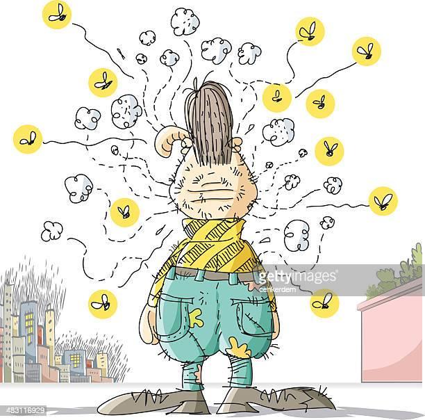 ilustraciones, imágenes clip art, dibujos animados e iconos de stock de bocetos loser - mosquito