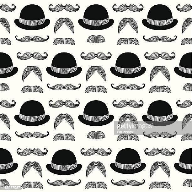 illustrations, cliparts, dessins animés et icônes de croquis de moustache de bikini taille basse à motif - moustache