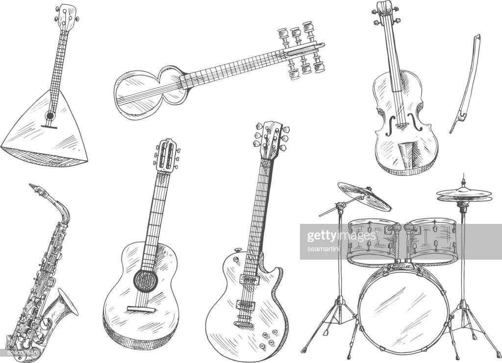 Sketchy musical instruments for arts design