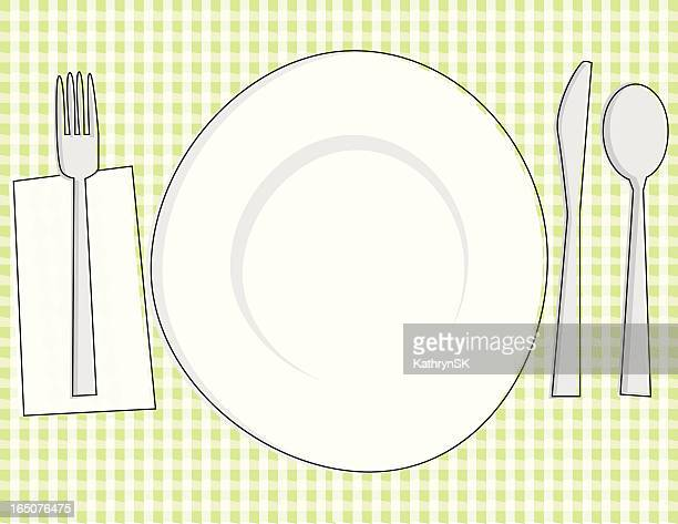 Sketchy Place Setting