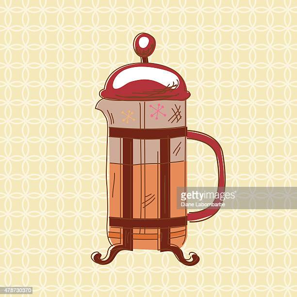Sketchy Scribble French Press Coffee Icon