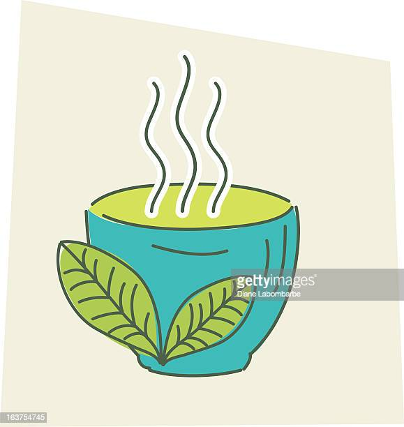 sketchy style green tea - green tea stock illustrations, clip art, cartoons, & icons