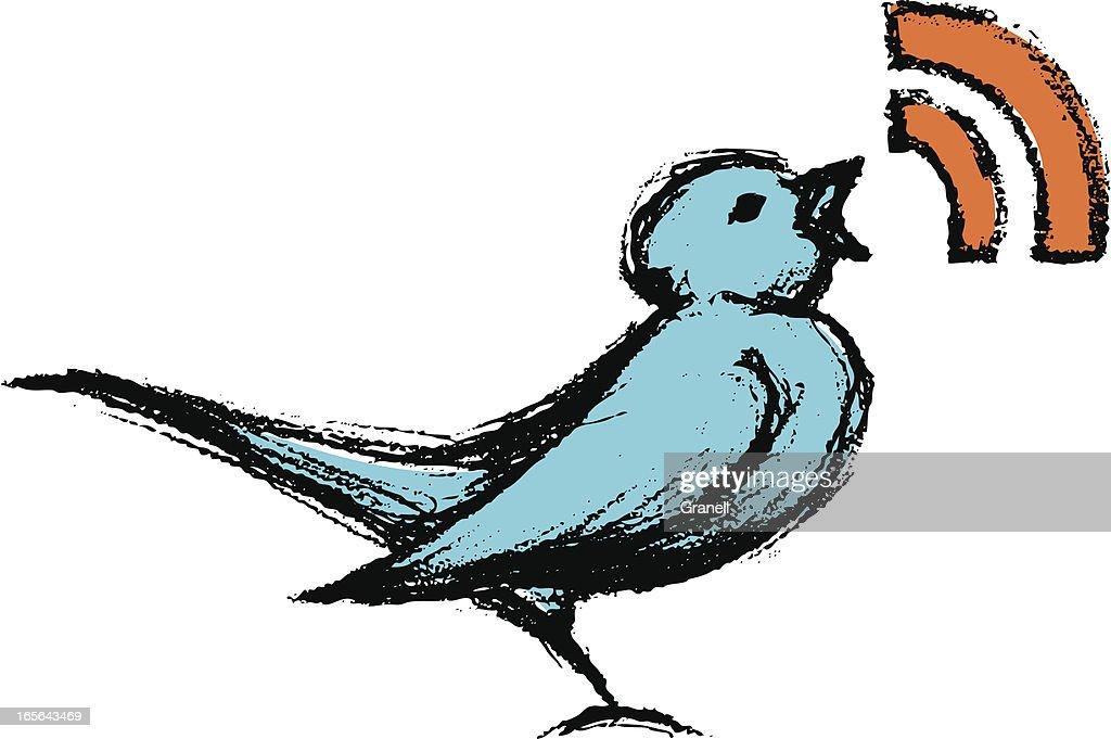 Sketchy Tweeting Bird