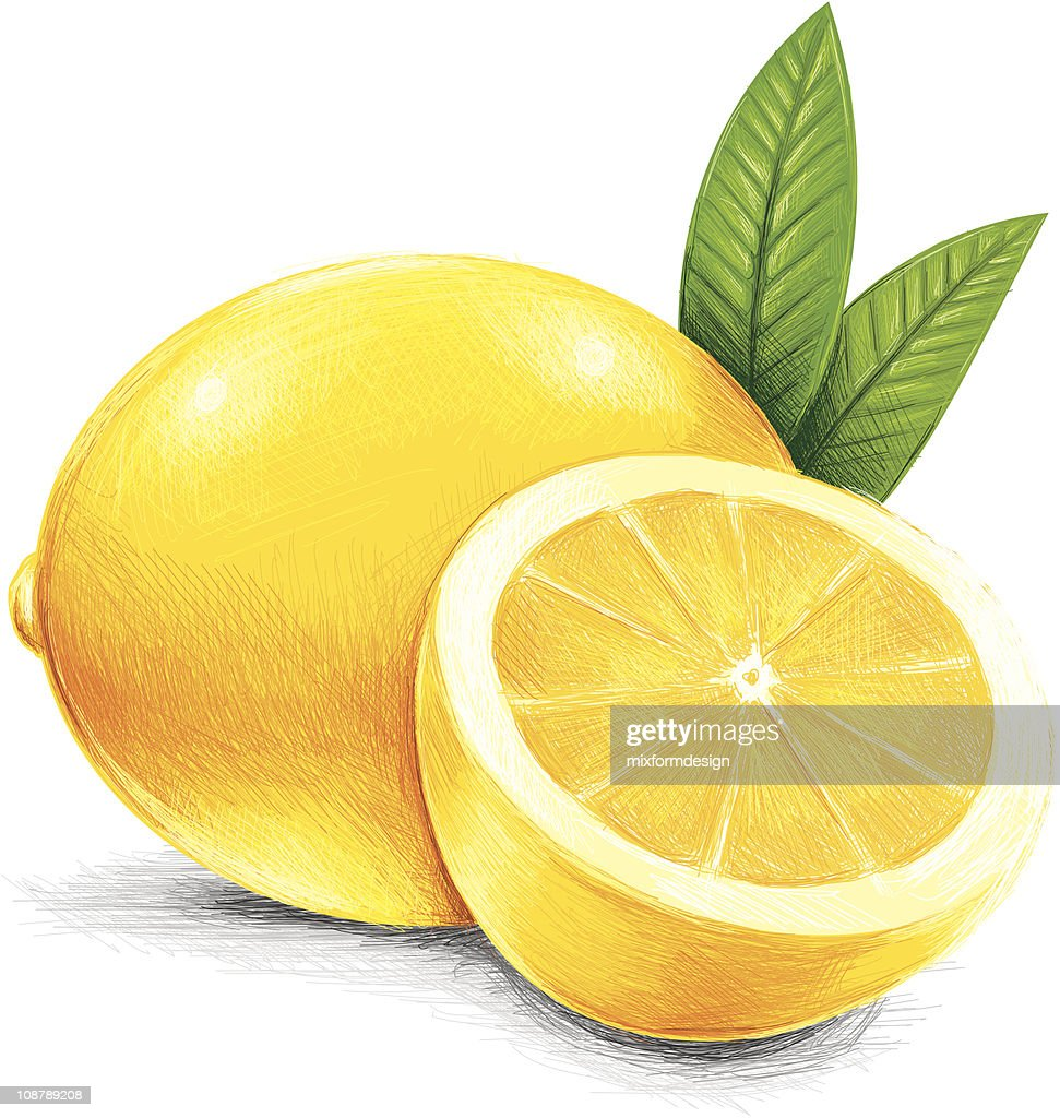 sketchy yellow lemon