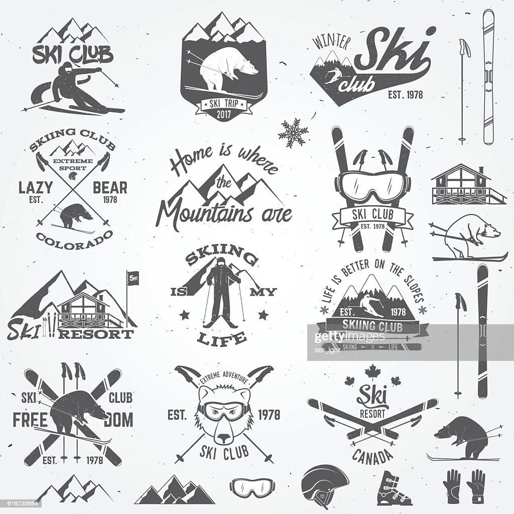Ski club design. Vector illustration.
