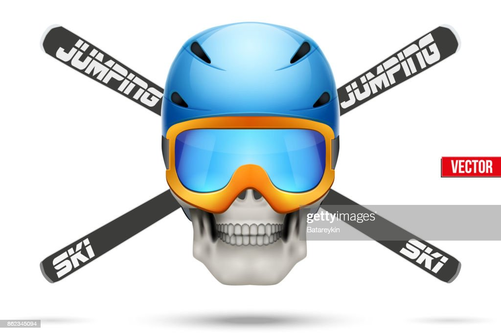 Ski club or team badges and labels