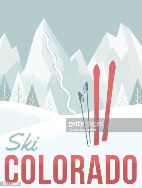 illustrations, cliparts, dessins animés et icônes de ski dans le colorado - ski alpin