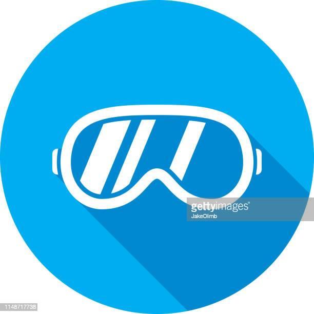 ski goggles icon silhouette - protective eyewear stock illustrations