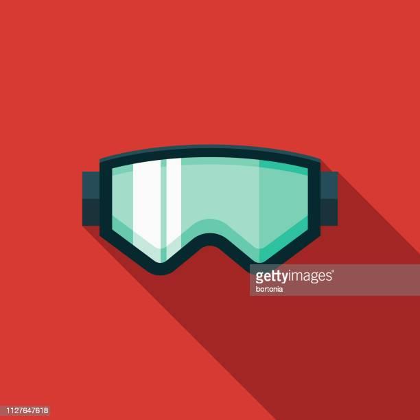 ski goggles winter sports icon - ski goggles stock illustrations, clip art, cartoons, & icons