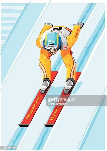 ski jumper - ancient olympia greece stock illustrations, clip art, cartoons, & icons