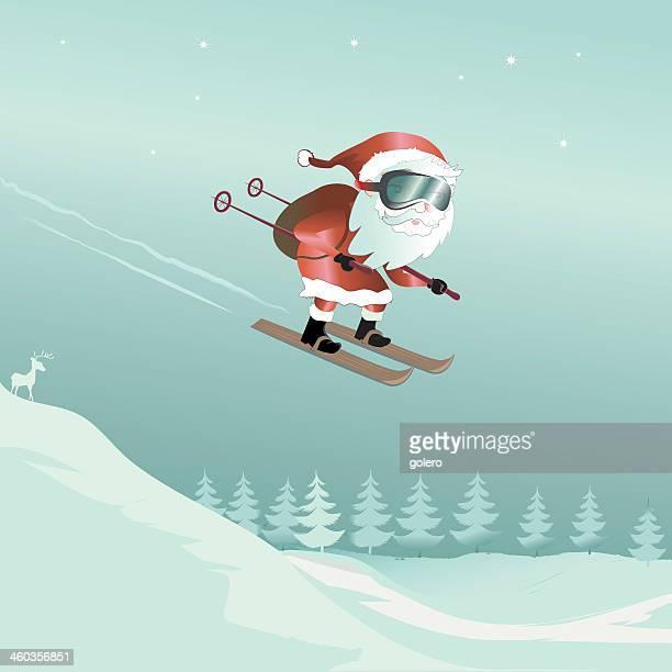 ski jumping santa claus