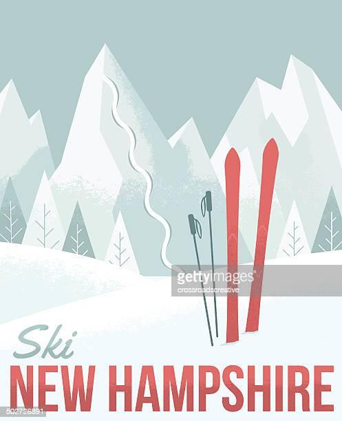 illustrations, cliparts, dessins animés et icônes de ski dans le new hampshire - ski alpin